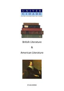 Literary History - BRITISH AND AMERICAN LITERATURE(Class notes)