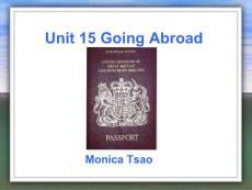 Unit 15 Going Abroad口语教案