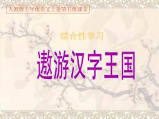 人教版五年级语文上册第五组《遨游汉字王国》PPT课件