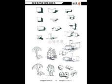 景观建筑规划手绘线稿临摹本 PPT素材