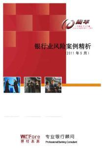 银行业风险案例精析2011年9月