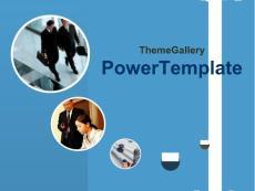 【PPT精品模板】蓝色系PPT模板 (55)