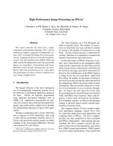 Real-time Image Processing based on FPGA