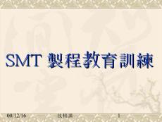 【管理精品】SMT製程教育訓練