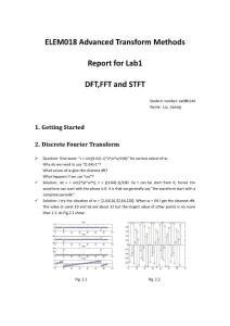 Advanced Transform Lab 1 Report