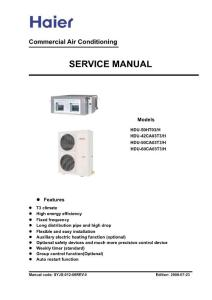 Service manual for units in T3 Condition(080823)(海尔空调英文说明书)