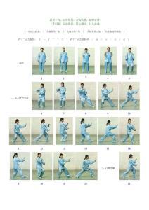 24式简化太极拳图片