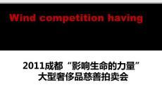 2011四川成都奢侈品慈善拍卖会活动策划案