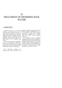 Pool Water Treatment meeting Safety Standard