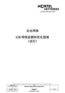 北电网络GSM网络监测和优化指南