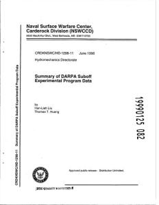 Summary of DARPA SUBOFF Experiment Program Date