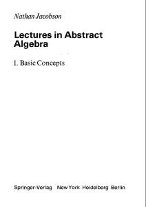 GTM030抽象代数讲义I Lectures in Abstract Algebra I Basic Concepts