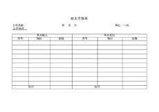 [精品EXCEL]财务模板3-全套财务表格收支月报表(xls)(多个SHEET表单)