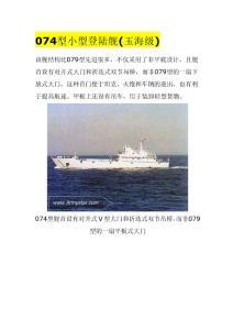中国两栖登陆舰艇-9种
