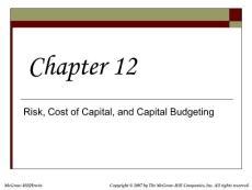 公司理财英文课件Chap012