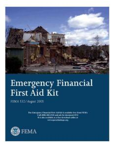 EMERGENCY FINANCIAL FIRST AID KIT (EFFAK) - OPERATION HOPE