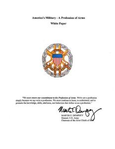 White Paper America´s Military - A Profession - Joint Chiefs of Staff