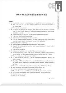 2006—2011年大学英语六级考试真题 听力原文