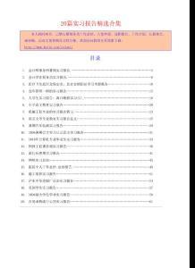 《会计师事务所暑期实习报告》等20篇实习报告精选合集3273