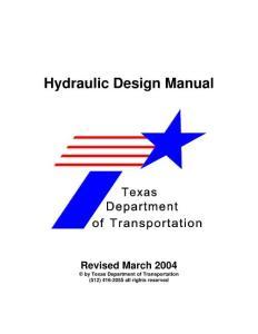 Engineering Hydraulic Design Manual