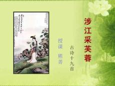 [学科竞赛]涉江采芙蓉竞赛..