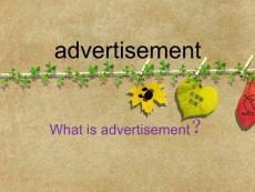 有关广告的英文ppt