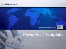 世界地图商务PPT模板