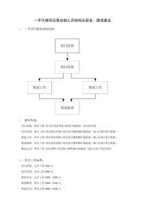 广州房产代理公司项目策划部人员架构及薪金、提成的建议