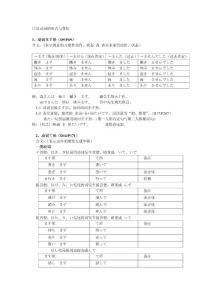日语的形式与变化