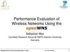 一个免费开源移动通信仿真平台介绍 利用openWNS评估无线网络性能
