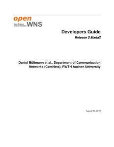 一个免费开源移动通信仿真平台 openwns开发指南