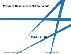 Program Management Near-Term Projects