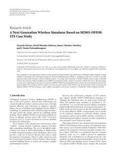 一个LTE性能系统级仿真平台 A Next Generation Wireless Simulator Based on MIMO OFDM LTE Case Study