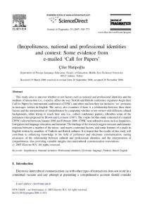 语用学杂志(Journal of Pragmatics)论文精选