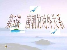中华书局七年级历史下册_第5课_唐朝对外关系