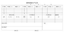 化工企业操作记录表