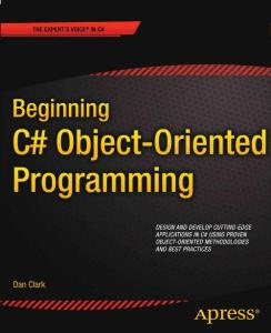 Beginning C sharp  Object-Oriented Programming May 2011