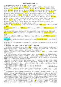 2014国家普通话水平测试题 题库50套全套(1-2带拼音) 完整版