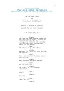 《生活大爆炸》第二季英文剧本