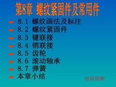 清华大学制图教程第八章螺纹紧固件和常用件