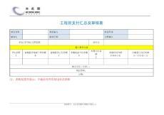 工程款支付汇总及审核表(简洁版)