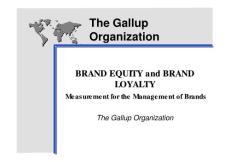盖洛普之品牌咨询体系