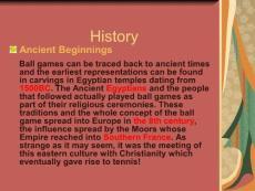 网球的历史与发展 Tennis