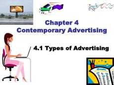 Types of Advertising-Contemporary Advertising