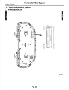 斯巴鲁 傲虎 力狮 布线系统 组合仪表系统