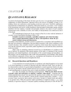 CHAPTER 4 QUATITATIVE RESEARCH