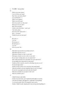 英文面试问题