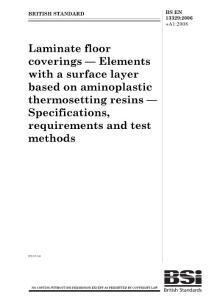 强化地板国际标准EN13329