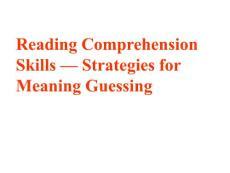 高考英语阅读猜词技巧1