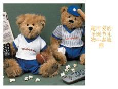 圣诞节精美小礼物--泰迪熊